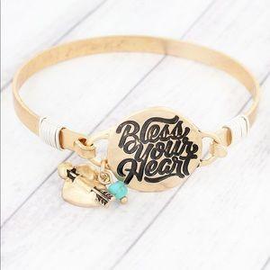 💛 BLESS YOUR HEART GOLDTONE BRACELET 💛